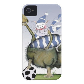 soccer blues kitty iPhone 4 case