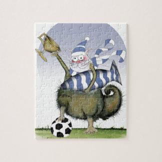 soccer blues kitty jigsaw puzzle