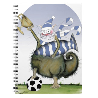 soccer blues kitty notebook
