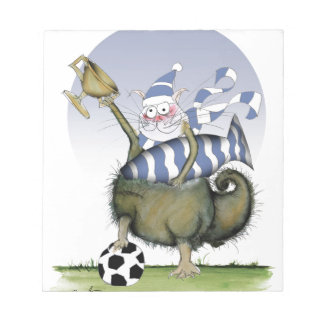 soccer blues kitty notepad