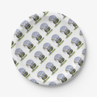 soccer blues kitty paper plate