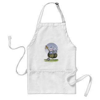 soccer blues kitty standard apron
