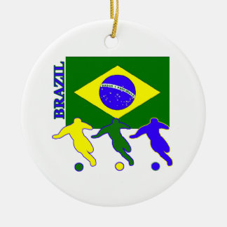 Soccer Brazil Ceramic Ornament