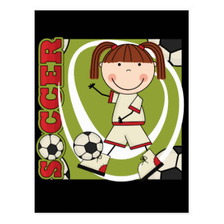 Soccer Brunette Girl T-shirts and Gifts Postcard