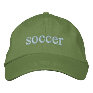 soccer cap embroidered hat