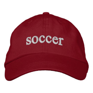 soccer cap embroidered hats