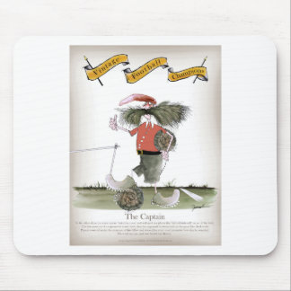 soccer captain red team mouse pad