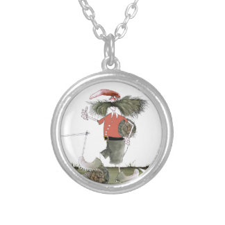 soccer captain red team silver plated necklace