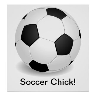 """Soccer Chick"" Poster"