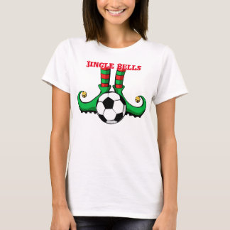 Soccer Christmas Elf Women's T-shirt