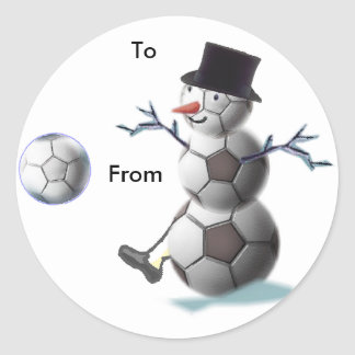 Soccer Christmas Holiday Gift Stickers