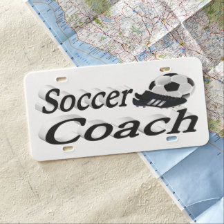 Soccer Coach 3D License Plate