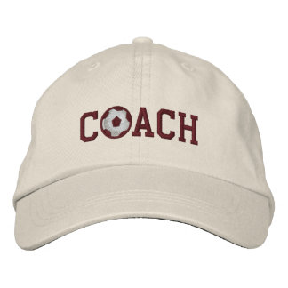 Soccer Coach Cap Embroidered Hat