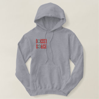 Soccer Coach Embroidered Men's Hoodie