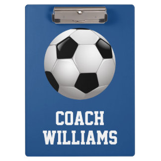 Soccer Coach Personalized Clipboard