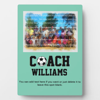 Soccer Coach Personalized Plaque