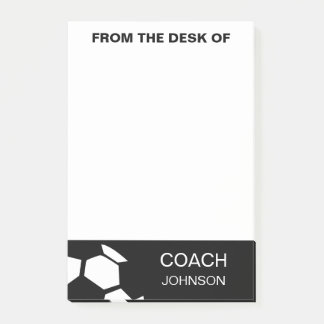 Soccer Coach Personalized Trendy Modern Stylish Post-it® Notes