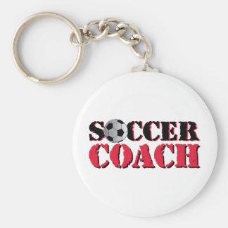 Soccer Coach (red) Basic Round Button Keychain