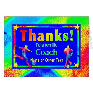 Soccer Coach Star Thank You Card