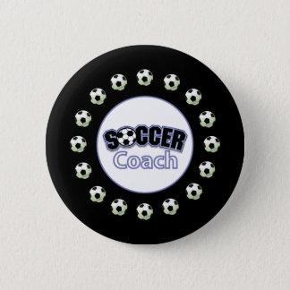Soccer Coach Thank You, Balls 2 Inch Round Button