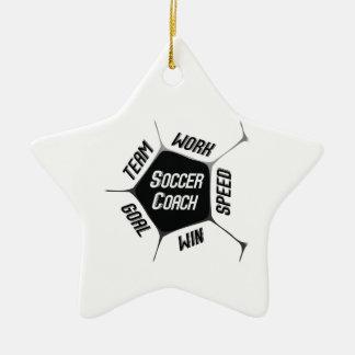 Soccer Coach Thanks Large Ball Ceramic Ornament