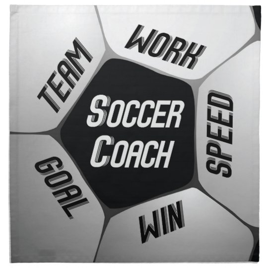 Soccer Coach Thanks Large Ball Cloth Napkin