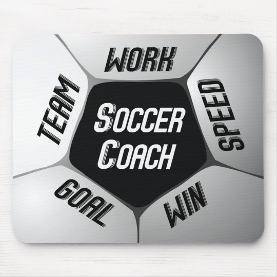 Soccer Coach Thanks Large Ball Mouse Pad