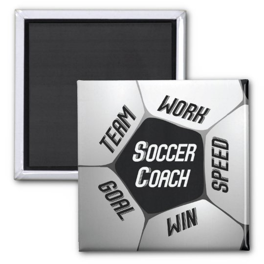 Soccer Coach Thanks Large Ball Square Magnet