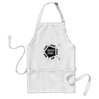 Soccer Coach Thanks Large Ball Standard Apron