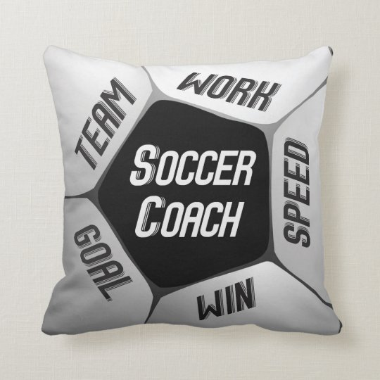 Soccer Coach Thanks Large Ball Throw Pillow