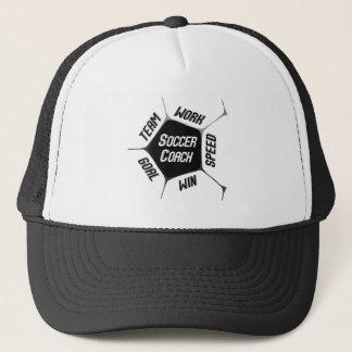 Soccer Coach Thanks Large Ball Trucker Hat