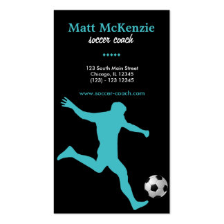 Soccer Coach (Turquoise) Pack Of Standard Business Cards