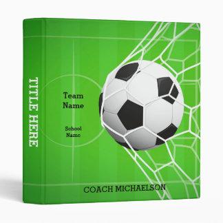 Soccer Coach Vinyl Binder