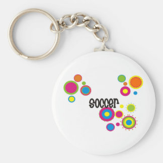 Soccer Cool Polka Dots Keychain