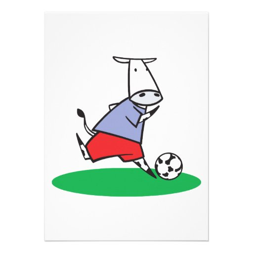 soccer cow personalized announcements