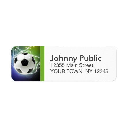 Soccer Custom Address Labels