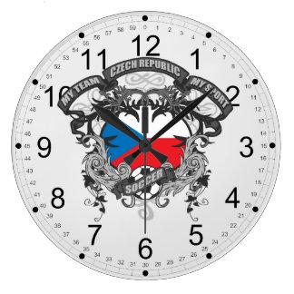 Soccer Czech Republic Large Clock