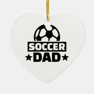 Soccer dad ceramic ornament