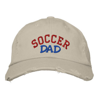 SOCCER, Dad - Customized - Customized Embroidered Hat