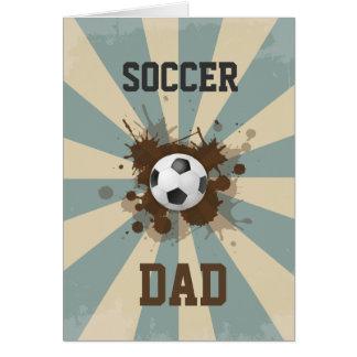 Soccer Dad Retro Design Card