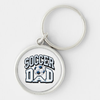 Soccer Dad Silver-Colored Round Keychain