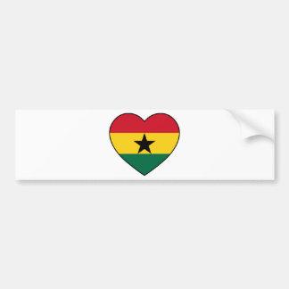 Soccer de Ghana Heart Adhésifs Pour Voiture