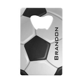 Soccer Design Bottle Opener Wallet Bottle Opener
