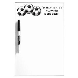 Soccer Design Dry Erase Board