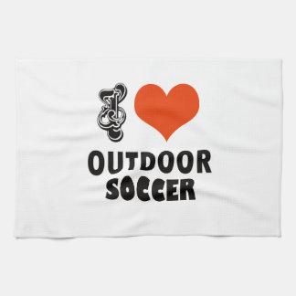 soccer design kitchen towel