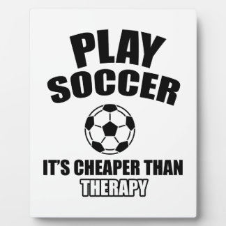 soccer design plaque
