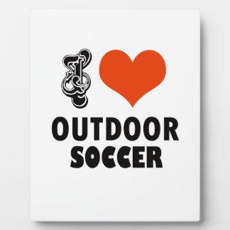 soccer design plaque