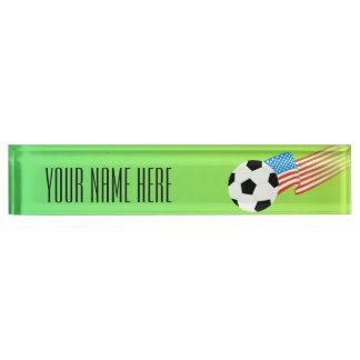 Soccer Desk Nameplates