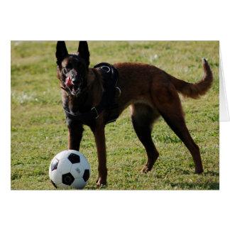 Soccer Dog Card