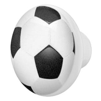 Soccer drawer knob, sport pull, sport theme ceramic knob